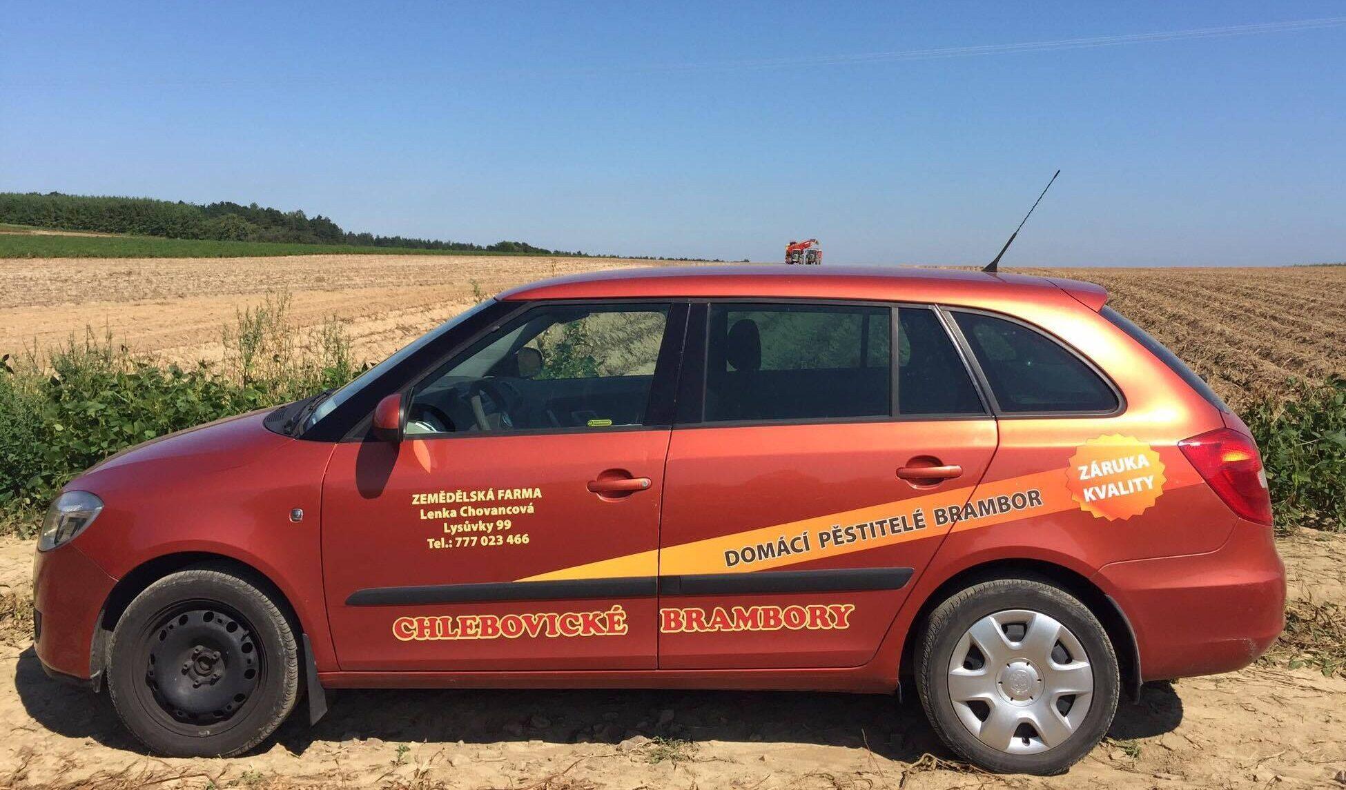 Naše auto pro rozvoz zákazníkům
